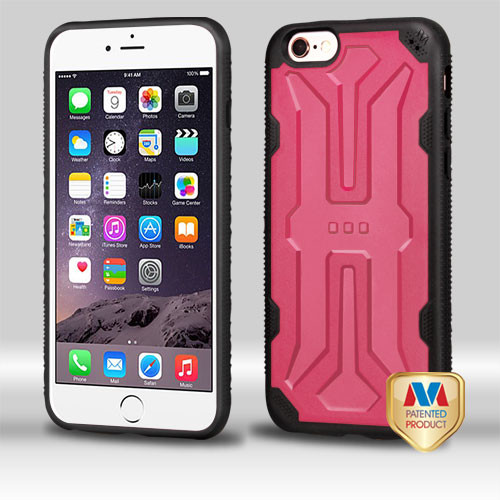 MyBat DefyR Hybrid Protector Cover for Apple iPhone 6s Plus/6 Plus - Natural Pink / Black