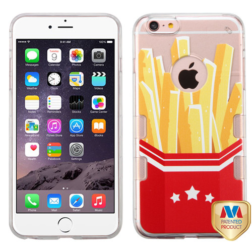 MyBat Gummy Cover for Apple iPhone 6s Plus/6 Plus - Transparent Clear French Fries-Movie Time Collection / Transparent Clear