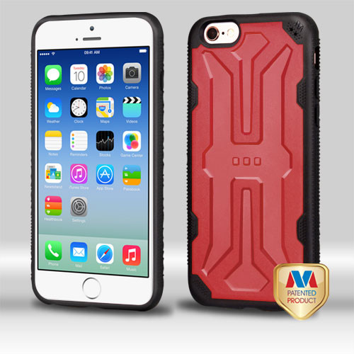 MyBat DefyR Hybrid Protector Cover for Apple iPhone 6s/6 - Natural Red / Black
