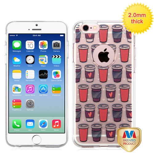MyBat Glassy SPOTS Premium Candy Skin Cover for Apple iPhone 6s/6 - Give Me Coffee