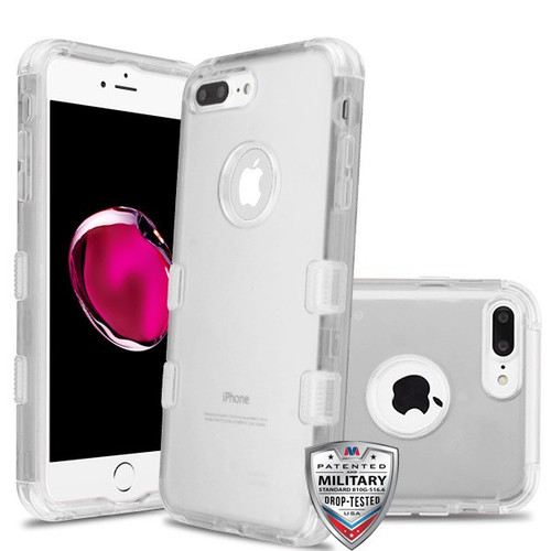 MyBat TUFF Lucid Hybrid Protector Cover [Military-Grade Certified] for Apple iPhone 8 Plus/7 Plus - Transparent Clear / Transparent Clear