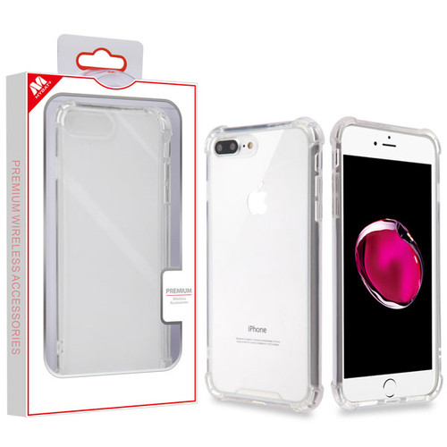 MyBat Sturdy Gummy Cover for Apple iPhone 8 Plus/7 Plus - Highly Transparent Clear / Transparent Clear