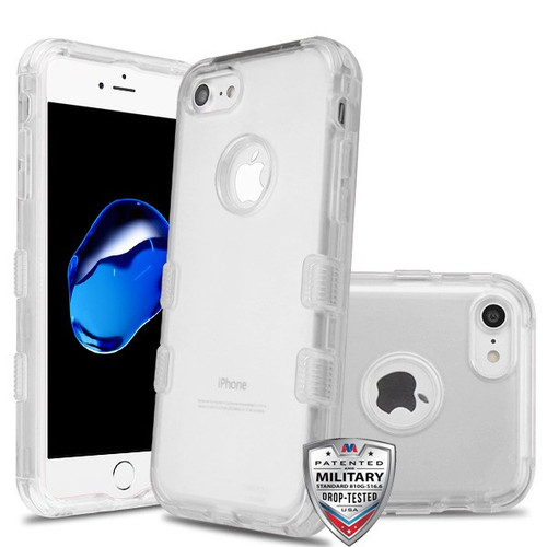 MyBat TUFF Lucid Hybrid Protector Cover [Military-Grade Certified] for Apple iPhone 8/7 - Transparent Clear / Transparent Clear