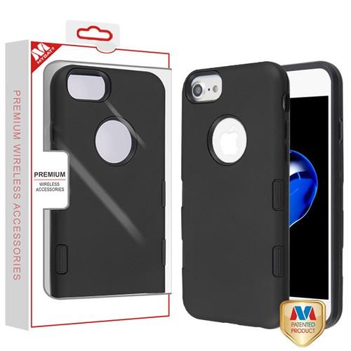 MyBat TUFF Subs Hybrid Case for Apple iPhone 8/7 - Rubberized Black / Black