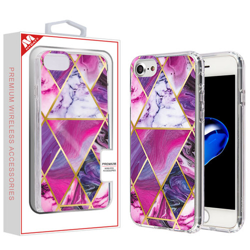 MyBat Fusion Protector Cover for Apple iPhone 8/7 - Electroplated Purple Marbling