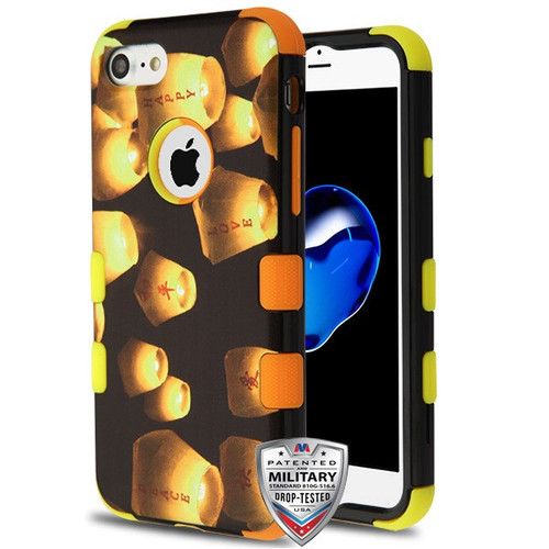 MyBat TUFF Hybrid Protector Cover [Military-Grade Certified] for Apple iPhone 8/7 - Lanterns / Yellow and Orange