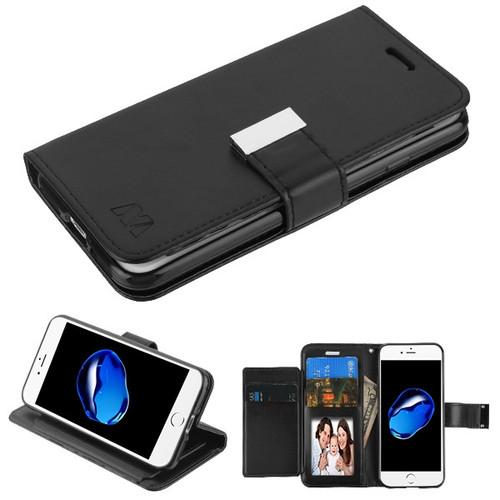 MyBat MyJacket Wallet Xtra Series for Apple iPhone 8/7 - Black / Black