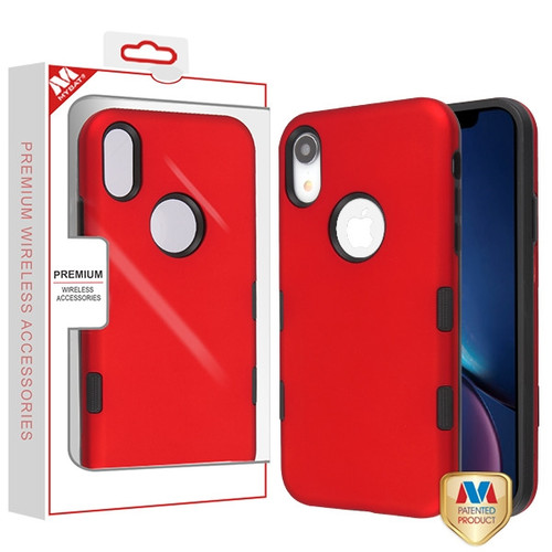 MyBat TUFF Subs Hybrid Case for Apple iPhone XR - Titanium Red / Black