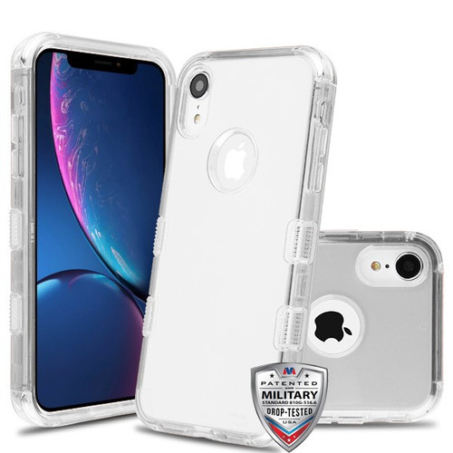 MyBat TUFF Lucid Hybrid Protector Cover [Military-Grade Certified] for Apple iPhone XR - Transparent Clear / Transparent Clear