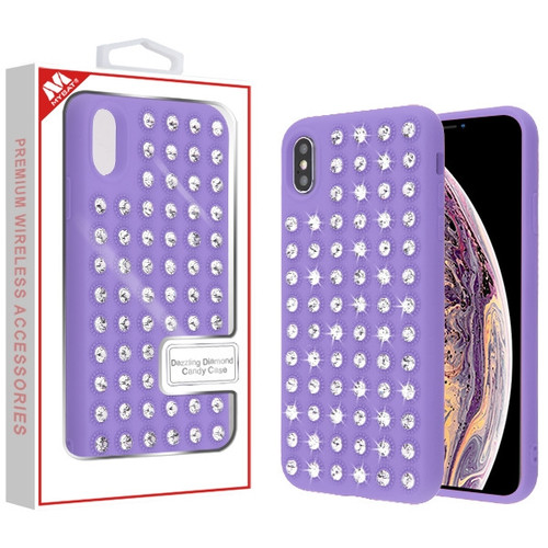 MyBat Dazzling Diamond Candy Case for Apple iPhone XS Max - Purple