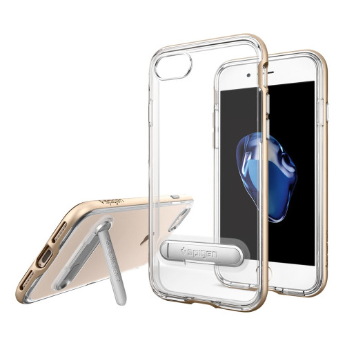 Apple iPhone 7 / iPhone 8 Spigen Crystal Hybrid Case With Kickstand - Champagne Gold
