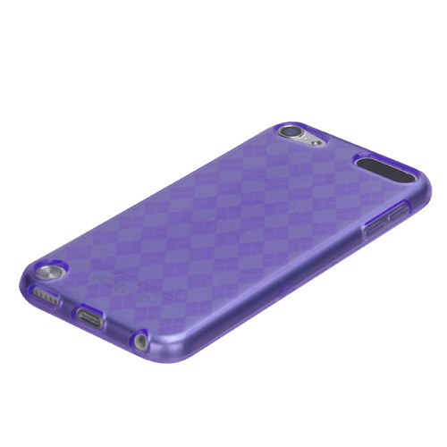 MyBat Argyle Pane Candy Skin Cover for Apple iPod touch (5th generation) - Purple