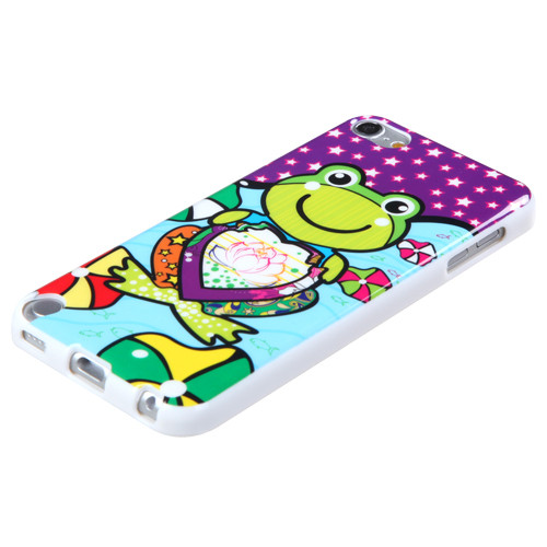 MyBat Candy Skin Cover for Apple iPod touch (5th generation) - Purple Lotus Frog