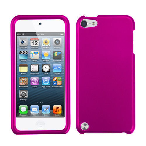 MyBat Protector Cover for Apple iPod touch (5th generation) - Titanium Solid Hot Pink