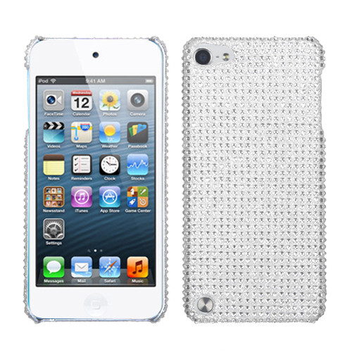 MyBat Diamante Back Protector Cover for Apple iPod touch (5th generation) - Silver