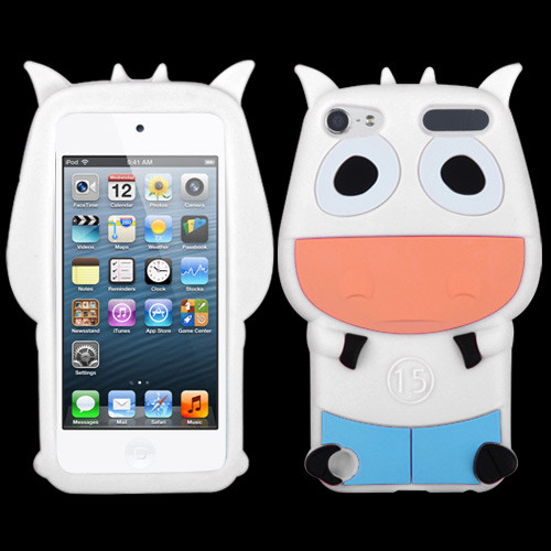 MyBat Pastel Skin Cover for Apple iPod touch (5th generation) - White Cow