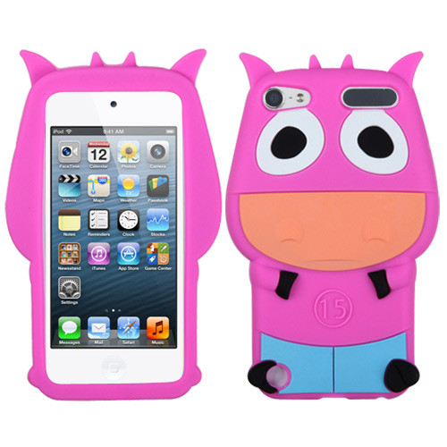 MyBat Pastel Skin Cover for Apple iPod touch (5th generation) - Hot Pink Cow
