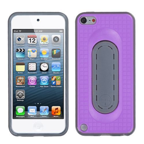 MyBat Snap Tail Stand Protector Cover for Apple iPod touch (5th generation) - Purple