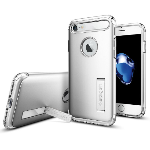 Spigen - Slim Armor Case for Apple iPhone 8  /  7 - Satin Silver