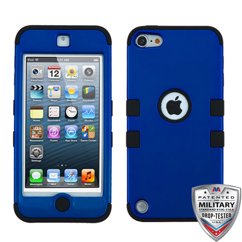 MyBat TUFF Hybrid Protector Cover [Military-Grade Certified] for Apple iPod touch (5th generation) - Titanium Dark Blue / Black