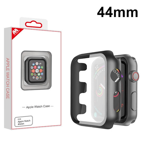 MyBat Fusion Protector Cover (with Tempered Glass Screen Protector) for Apple Watch Series 4 44mm - Black