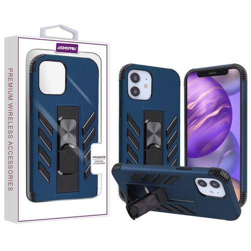 Asmyna Hybrid Case (with Stand) for Apple iPhone 12 mini (5.4) - Ink Blue / Black
