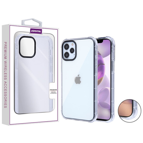 Asmyna Corner Guard Candy Skin Cover for Apple iPhone 12 Pro Max (6.7) - Transparent Clear=