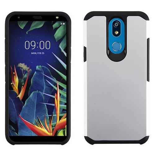 Asmyna Astronoot Protector Cover for Lg K40 - Silver / Black