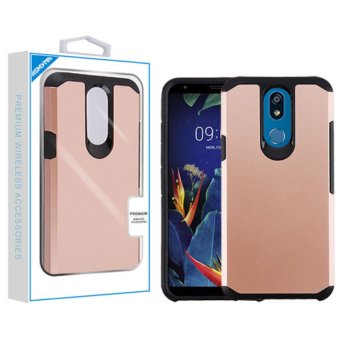 Asmyna Astronoot Protector Cover for Lg K40 - Rose Gold / Black