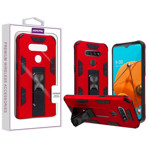 Asmyna Hybrid Case (with Stand) for Lg Reflect - Red / Black