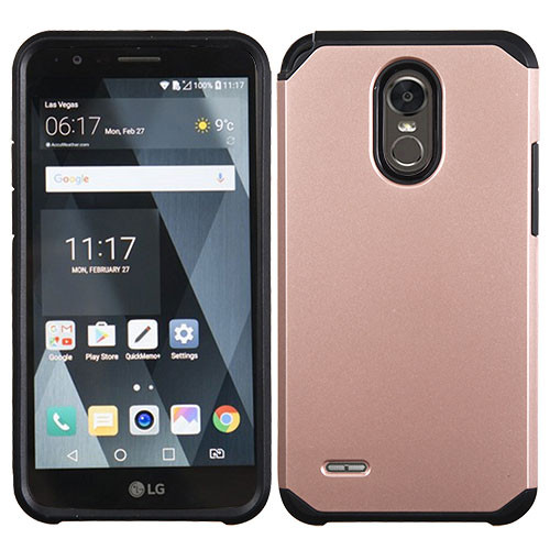 Asmyna Astronoot Protector Cover for Lg LS777 (Stylo 3) - Rose Gold / Black