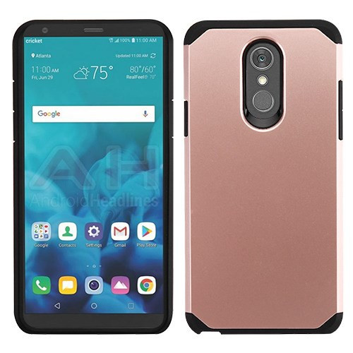 Asmyna Astronoot Protector Cover for Lg Stylo 4 - Rose Gold / Black
