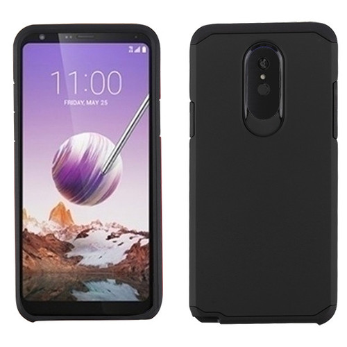 Asmyna Astronoot Protector Cover for Lg Stylo 5 - Black / Black