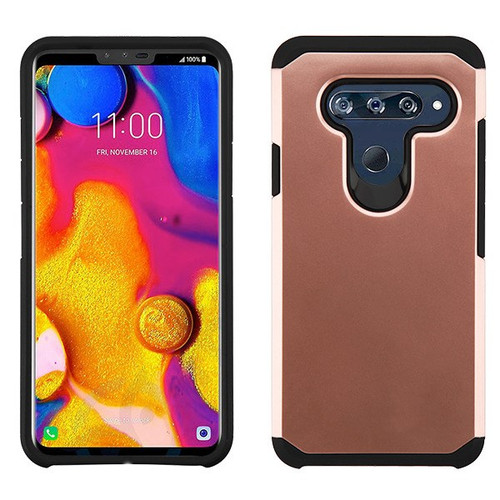 Asmyna Astronoot Protector Cover for Lg V40 ThinQ - Rose Gold / Black