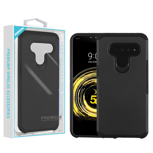 Asmyna Astronoot Protector Cover for Lg V50 ThinQ - Black / Black