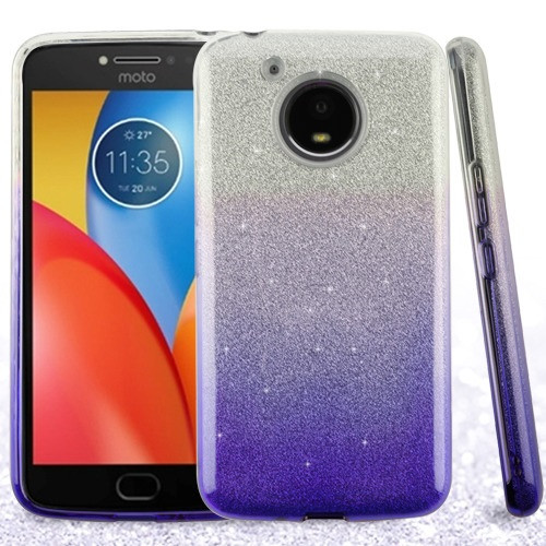 Asmyna Gradient Glitter Hybrid Protector Cover for Motorola XT1773 (Moto E4 Plus) - Purple