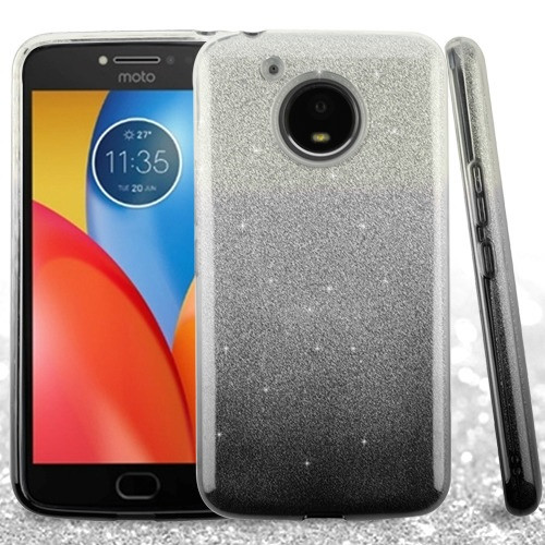 Asmyna Gradient Glitter Hybrid Protector Cover for Motorola XT1773 (Moto E4 Plus) - Black