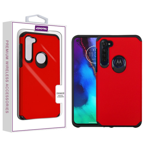 Asmyna Astronoot Protector Cover for Motorola Moto G Stylus - Red / Black