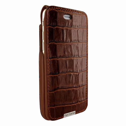 Piel Frama 770 Brown Crocodile UltraSliMagnum Leather Case for Apple iPhone 7 / 8