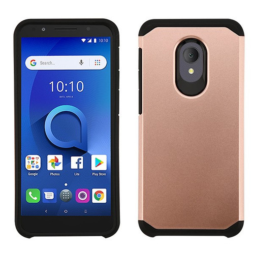 Asmyna Astronoot Protector Cover for Alcatel 1X Evolve - Rose Gold / Black