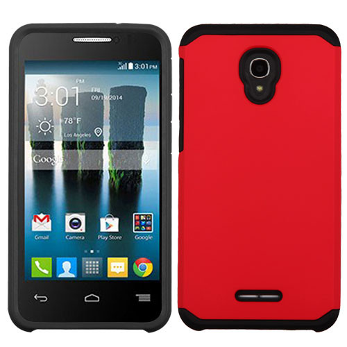 Asmyna Astronoot Protector Cover for Alcatel Fierce 4 - Red / Black