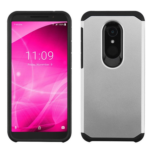 Asmyna Astronoot Protector Cover for Alcatel Revvl 2 - Silver / Black
