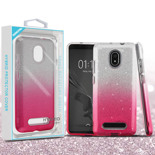 Asmyna Gradient Glitter Hybrid Protector Cover for Foxx L590 (Foxxd Miro) - Pink