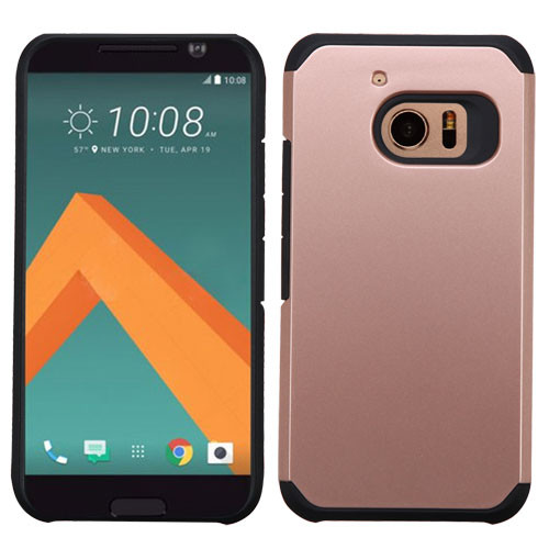 Asmyna Astronoot Protector Cover for Htc 10 - Rose Gold / Black