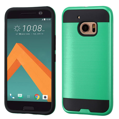 Asmyna Brushed Hybrid Protector Cover for Htc 10 - Green / Black