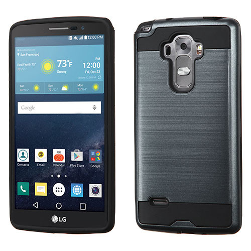 Asmyna Brushed Hybrid Protector Cover for Lg H740 (G Vista 2) - Ink Blue / Black