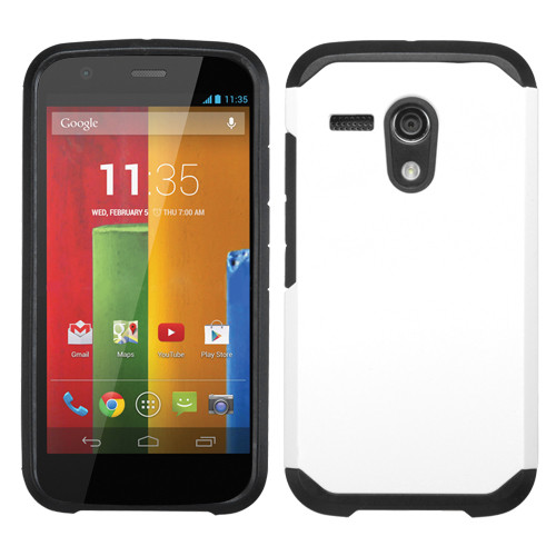 Asmyna Astronoot Protector Cover for Motorola Moto G - White / Black