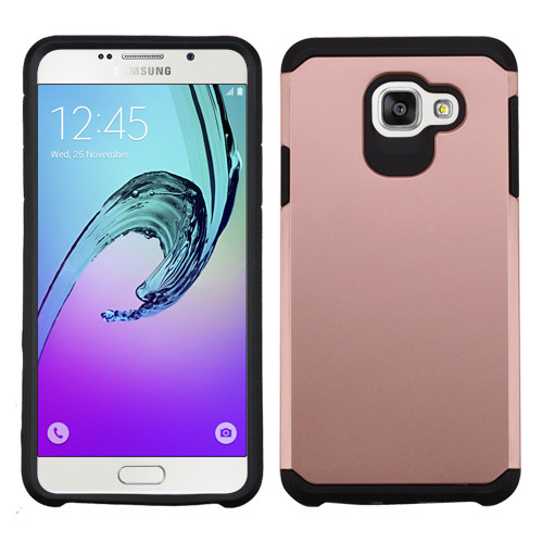 Asmyna Astronoot Protector Cover for Samsung A710 Galaxy A7 (2016) - Rose Gold / Black