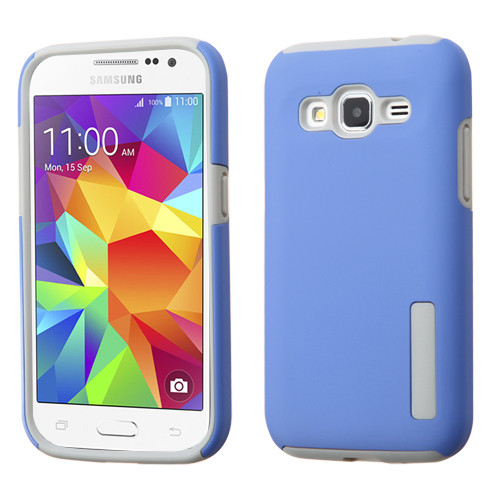 Asmyna Hybrid Protector Cover for Samsung G360 (Prevail LTE) - Blue / Gray
