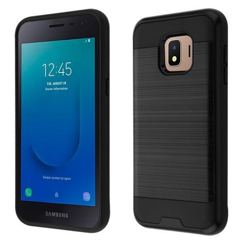 Asmyna Brushed Hybrid Protector Cover for Samsung J260 (Galaxy J2 Core) - Black / Black